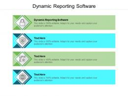 Dynamic Reporting Software Ppt Powerpoint Presentation Gallery Slides Cpb