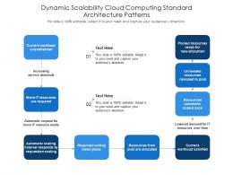 Dynamic Scalability Cloud Computing Standard Architecture Patterns Ppt Presentation Diagram