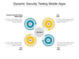 Dynamic Security Testing Mobile Apps Ppt Powerpoint Presentation Outline Maker Cpb