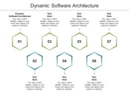 Dynamic Software Architecture Ppt Powerpoint Presentation Styles Grid Cpb