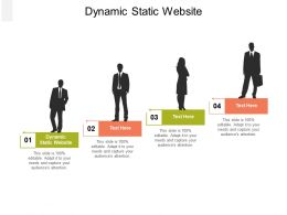 Dynamic Static Website Ppt Powerpoint Presentation Layouts Ideas Cpb