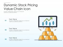 Dynamic Stock Pricing Value Chain Icon