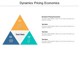 Dynamics Pricing Economics Ppt Powerpoint Presentation Icon Vector Cpb