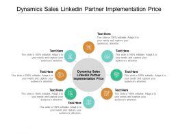 Dynamics Sales Linkedin Partner Implementation Price Ppt Powerpoint Presentation Show Ideas Cpb