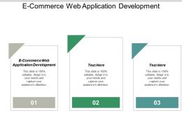 E-Commerce Web Application Development Ppt Powerpoint Presentation Portfolio Files Cpb