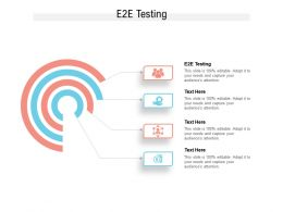 E2E Testing Ppt Powerpoint Presentation Outline Clipart Cpb