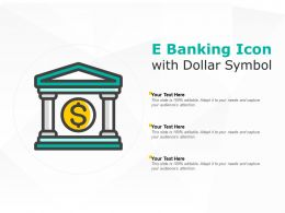 E Banking Icon With Dollar Symbol