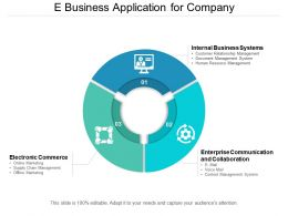 E Business Application For Company