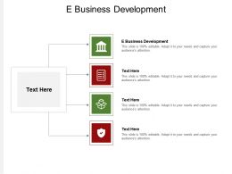 E Business Development Ppt Powerpoint Presentation Portfolio Templates Cpb