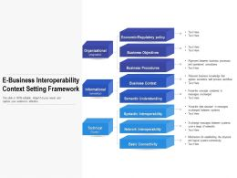 E Business Interoperability Context Setting Framework