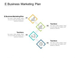 E Business Marketing Plan Ppt Powerpoint Presentation Layouts Show Cpb