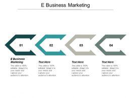 E Business Marketing Ppt Powerpoint Presentation Portfolio Gallery Cpb