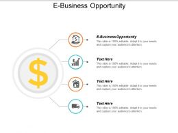E Business Opportunity Ppt Powerpoint Presentation Styles Themes Cpb