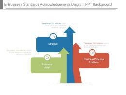 E Business Standards Acknowledgements Diagram Ppt Background