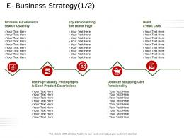 E Business Strategy Functionality Ecommerce Solutions Ppt Demonstration