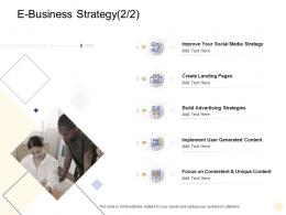 E Business Strategy Improve Digital Business Management Ppt Rules