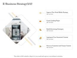 E Business Strategy Landing Online Trade Management Ppt Microsoft