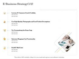 E Business Strategy Quality Online Trade Management Ppt Inspiration