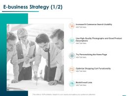 E Business Strategy Quality Ppt Powerpoint Presentation Infographic Template Layouts