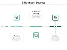 E Business Success Ppt Powerpoint Presentation Gallery Brochure Cpb