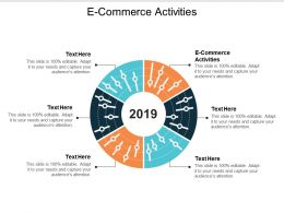 E Commerce Activities Ppt Powerpoint Presentation Icon Graphics Cpb