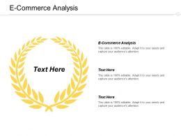E Commerce Analysis Ppt Powerpoint Presentation Infographic Template Clipart Cpb