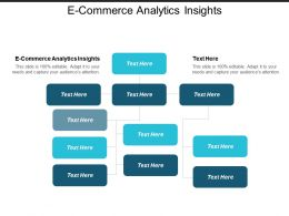 E Commerce Analytics Insights Ppt Powerpoint Presentation Infographics Guide Cpb