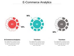 E Commerce Analytics Ppt Powerpoint Presentation File Deck Cpb