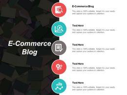 E Commerce Blog Ppt Powerpoint Presentation File Design Ideas Cpb