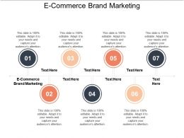 E Commerce Brand Marketing Ppt Powerpoint Presentation Gallery Example File Cpb