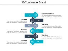 E Commerce Brand Ppt Powerpoint Presentation Portfolio Infographics Cpb