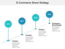 E Commerce Brand Strategy Ppt Powerpoint Presentation Gallery Display Cpb