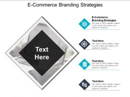 E Commerce Branding Strategies Ppt Powerpoint Presentation File Graphics Pictures Cpb