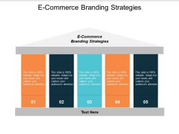 E Commerce Branding Strategies Ppt Powerpoint Presentation Icon Guide Cpb