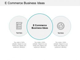 E Commerce Business Ideas Ppt Powerpoint Presentation Summary Objects Cpb