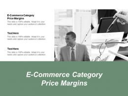 E Commerce Category Price Margins Ppt Powerpoint Presentation Icon Samples Cpb