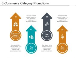 E Commerce Category Promotions Ppt Powerpoint Presentation File Templates Cpb