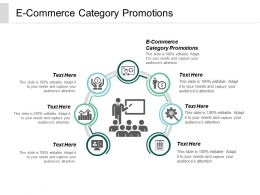 E Commerce Category Promotions Ppt Powerpoint Presentation Gallery Inspiration Cpb