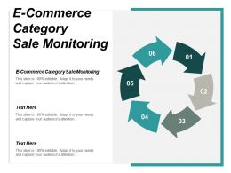 E Commerce Category Sale Monitoring Ppt Powerpoint Presentation Infographic Template Graphics Cpb