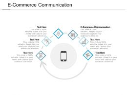 E Commerce Communication Ppt Powerpoint Presentation Summary Deck Cpb