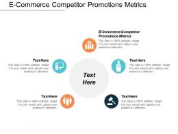 E Commerce Competitor Promotions Metrics Ppt Powerpoint Presentation Professional Visuals Cpb