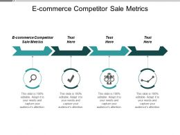 E Commerce Competitor Sale Metrics Ppt Powerpoint Presentation Infographic Template Example Topics Cpb