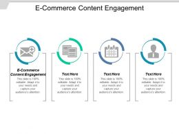 E Commerce Content Engagement Ppt Powerpoint Presentation Professional Summary Cpb