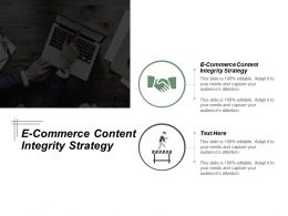 E Commerce Content Integrity Strategy Ppt Powerpoint Presentation Styles Example Cpb