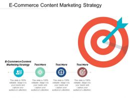 E Commerce Content Marketing Strategy Ppt Powerpoint Presentation File Objects Cpb