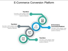 E Commerce Conversion Platform Ppt Powerpoint Presentation Icon Graphics Pictures Cpb