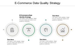 E Commerce Data Quality Strategy Ppt Powerpoint Presentation Infographic Template Styles Cpb
