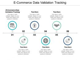 E Commerce Data Validation Tracking Ppt Powerpoint Presentation Ideas Design Cpb