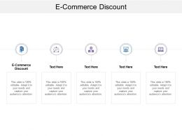 E Commerce Discount Ppt Powerpoint Presentation Gallery File Formats Cpb