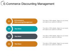 E Commerce Discounting Management Ppt Powerpoint Presentation File Aids Cpb